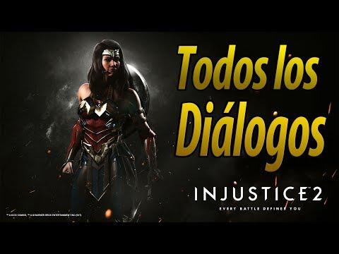 Injustice 2 | Español Latino | Todos los Diálogos | Wonder Woman | PS4 |