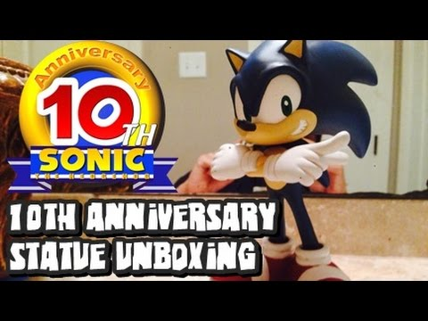 Sonic the Hedgehog 10th Anniversary Statue Unboxing *RARE*