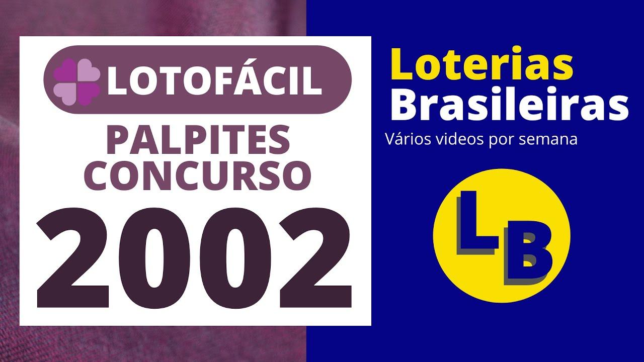 LOTOFACIL 2002 DICAS PARA O PRÓXIMO CONCURSO (PLANILHA GRÁTIS)