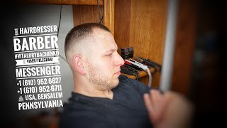 Стрижка Haircut BarbershopAlteregoUSA VitaliiRybachenko Hairdresser Barber Pennsylvania USA