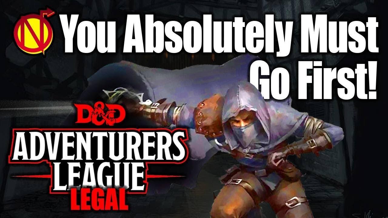 Adventurers League First Strike 5e D Amp D Character Build
