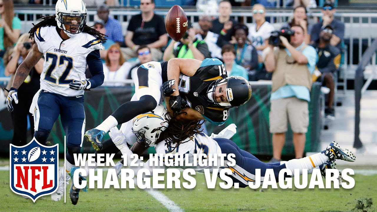 chargers vs. jaguars | week 12 highlights | nfl - youtube