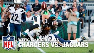 Chargers vs. Jaguars | Week 12 Highlights | NFL