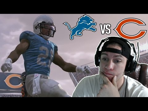 Madden NFL 17 Detroit Lions  Year 3 Game 10 at Chicago Bears