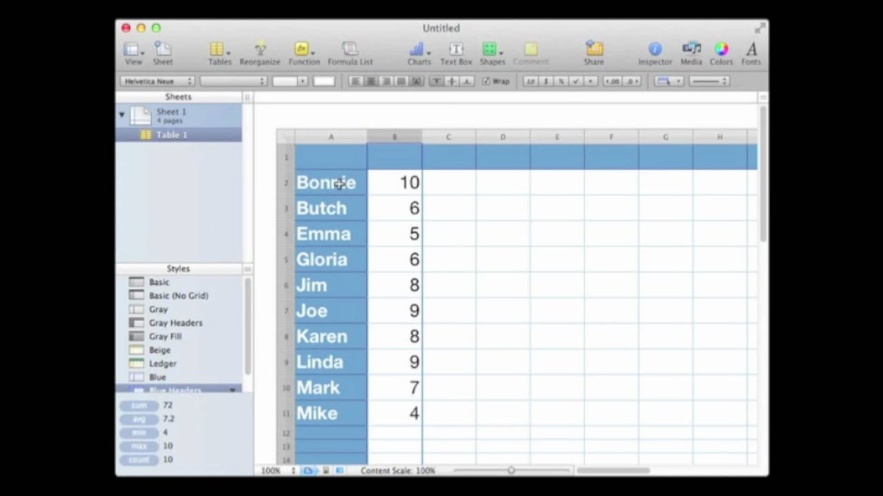 sort alphabetical order numbers mac