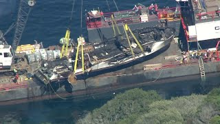 Dive boat where 34 died raised from sea off Calif.