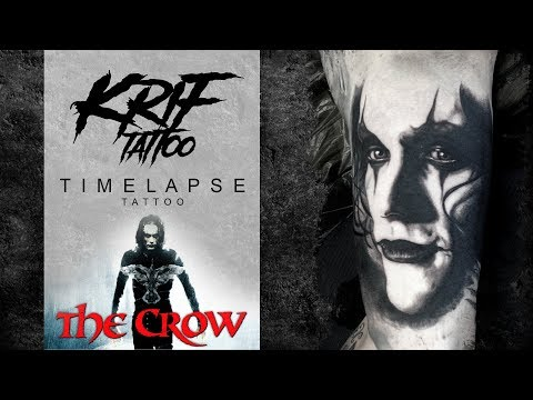 The Crow - Tattoo Timelapse - Brandon Lee by [KRIF_tattoo]