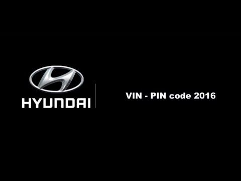 PIN to VIN HIUNDAI & KIA 2016