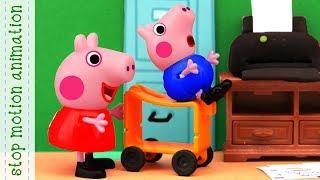 Mom is working. Peppa pig toys stop motion animation english episodes 2018