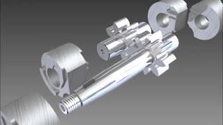 Hydraulic Gear Pump - Inventor 2012