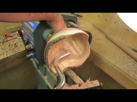 wood turning # 49 mystery crotch apple bowl