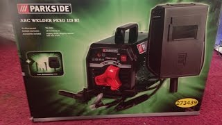 Box opening and review, Parkside Arc welder PSEG 120 B2