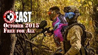 Woodsball October 25th 2015 Free For All at Lone Wolf Paintball East Field Mt Clemens Michigan