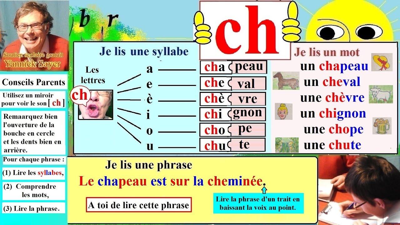 Apprentissage De La Lecture Maternelle Cp En Francais Alphabet Ch 20 Youtube