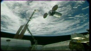 """Cygnus OA-8 """"SS Gene Cernan"""" Release & Departure (time lapse)"""