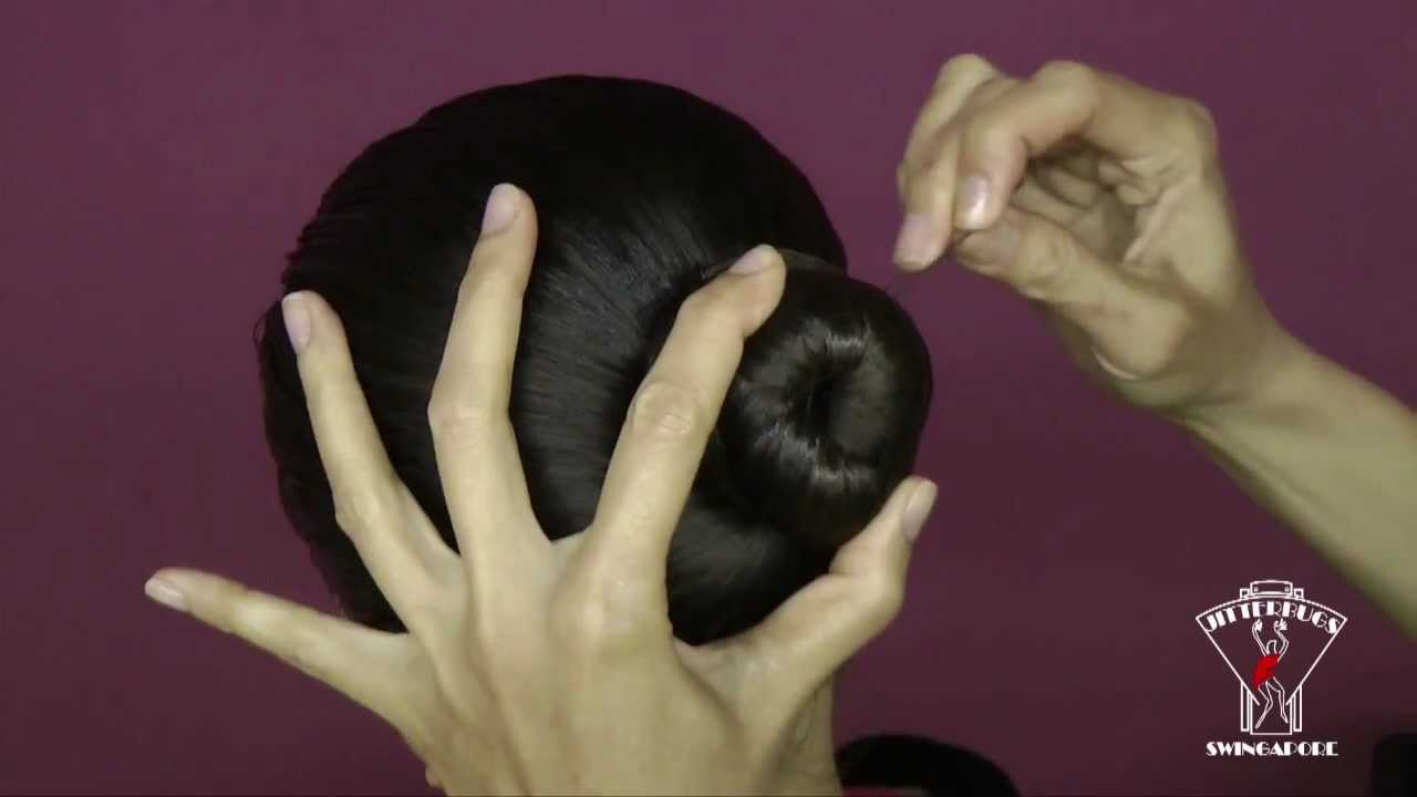 A Jitterbugs Tutorial  How To Tie A Neat & Secure Hair Bun