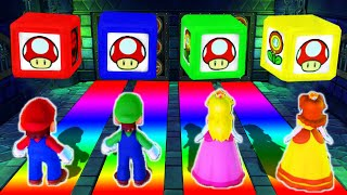 Mario Party 10 - Minigames - Mario vs Luigi vs Peach vs Daisy