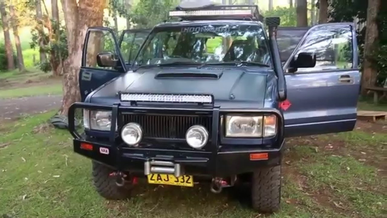 4x4 camper conversion on a budget - Isuzu Trooper Holden Jackaroo walk  around
