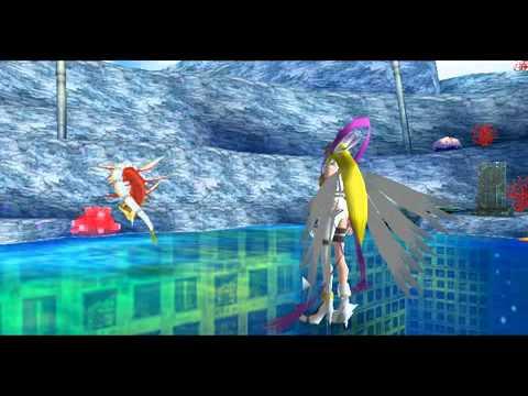 Digimon World Re Digitize - MatalGraymon and Angewomon VS ...