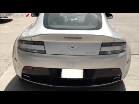 A V12 Vantage Sport Exhaust comparison by QuickSilver