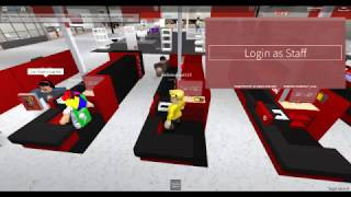 Working at Target in Roblox. (Promoted)