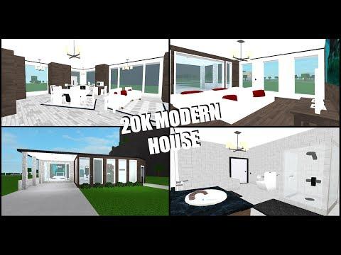 20k Modern House Roblox Welcome To Bloxburg Budget Build