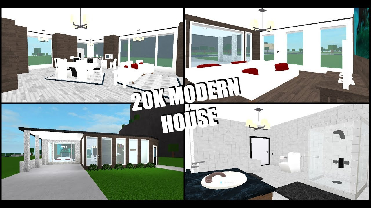 20k Modern House Roblox Welcome To Bloxburg Budget