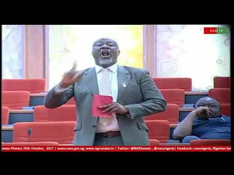 SENATOR  DINO MELAYE ALERTS THE NATIONAL ASSEMBLY ON THE UNPAID SALARY SAGA IN KOGI STATE OF NIGERIA