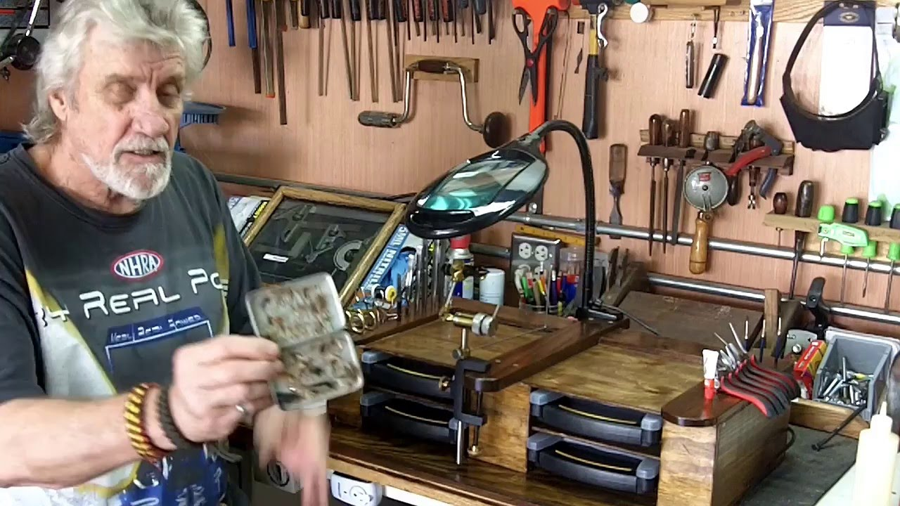 Fly Tying Desks And Benches - D i y fly tying station bench part 2 finished shop made station for fly tying youtube