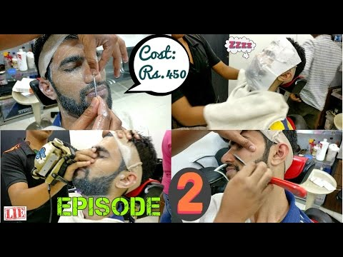 Face Massage Spa Therapy Complete ASMR | Blackhead Removal | Steam | Beard Shave Trim | Head Massa