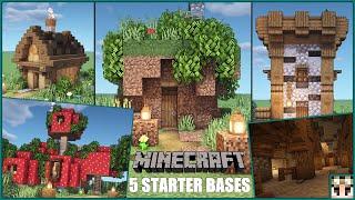 Minecraft - 5 Simple starter base ideas