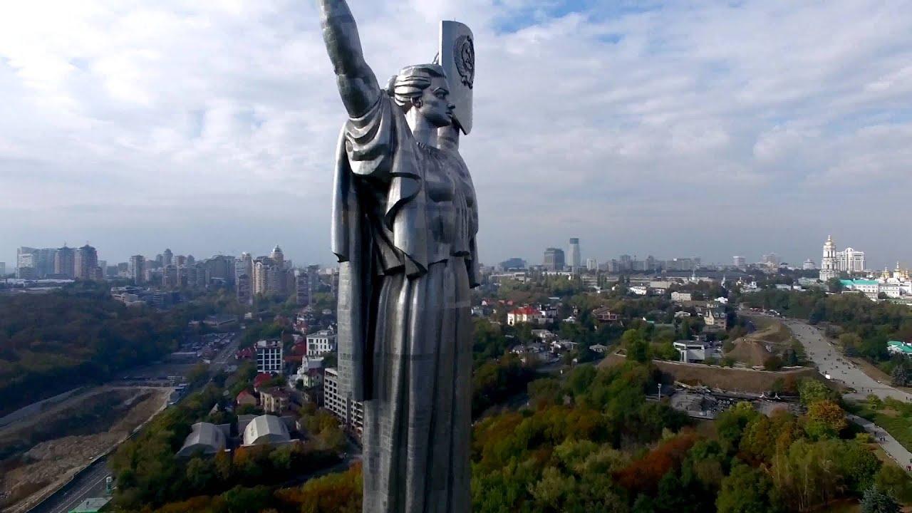 Киев Родина Мать. Самое лучшее видео  4К Phantom 3 pro