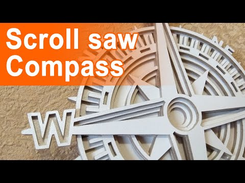 DIY wooden compass - scroll saw project