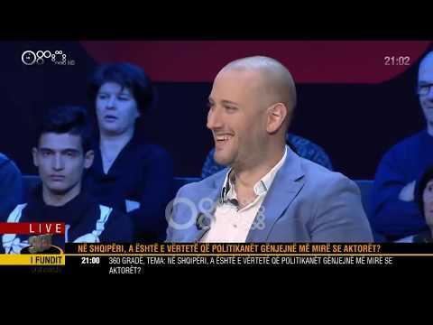 """LIVE/ '360 gradë' -""""Në Shqipëri, a është e vërtetë që politikanët gënjejnë më mirë?""""(19 nëntor 2018)"""