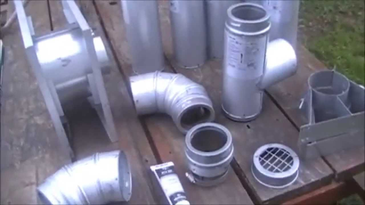 step by step install of pellet stove pipe exhaust kit