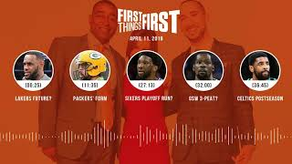 First Things First audio podcast (4.11.19)Cris Carter, Nick Wright, Jenna Wolfe   FIRST THINGS FIRST