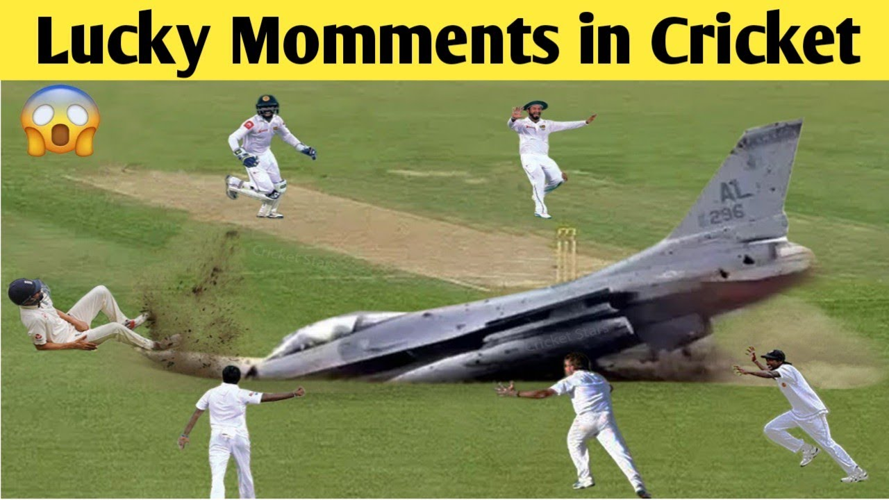 Top 10 Most Lucky Moments in Cricket Ever — Unusual Moments | Cricket Star |