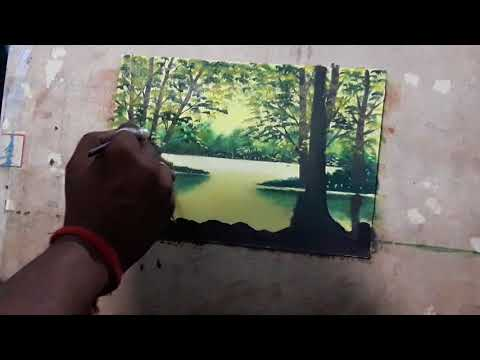How to Draw Scenery oil painting