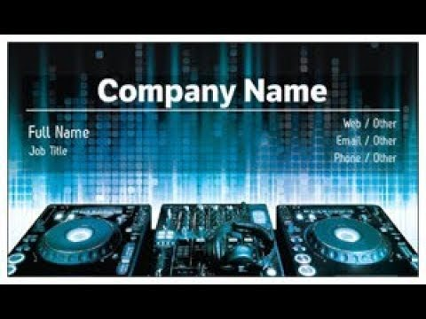Dj Business Cards, - YouTube
