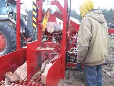 DIY Firewood Processor chewing through logs