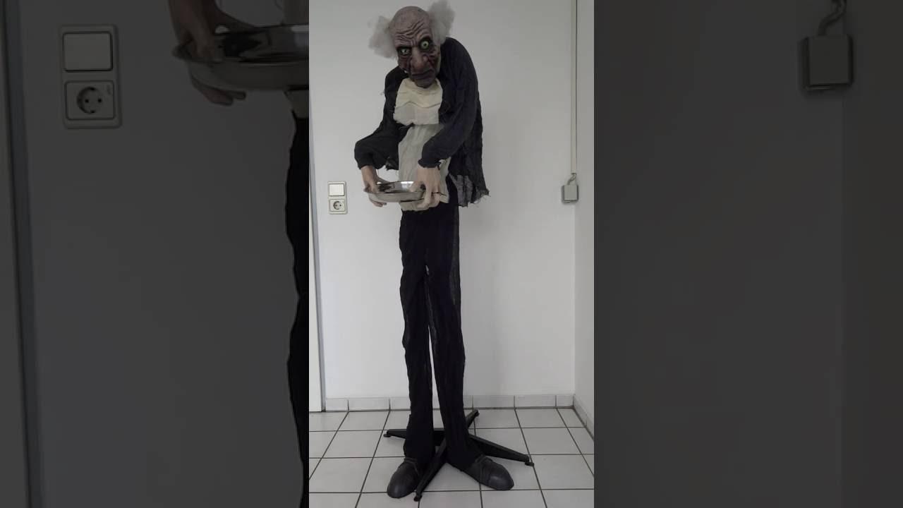 animierte Halloween Dekoration Butler Licht Sound Musik Ton Bewegung 150cm