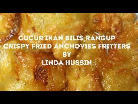 Cucur ikan bilis rangup / Crispy anchovies fritters by Linda Hussin