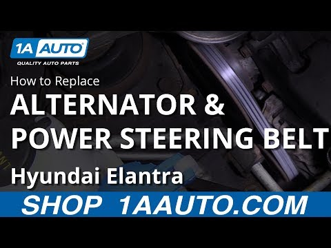 How to Replace Alternator & Power Steering Belt 07-10 Hyundai Elantra