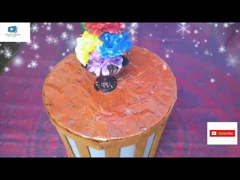 DIY MINI TABLE WITH CARDBOARD AND PAPER #unikideass