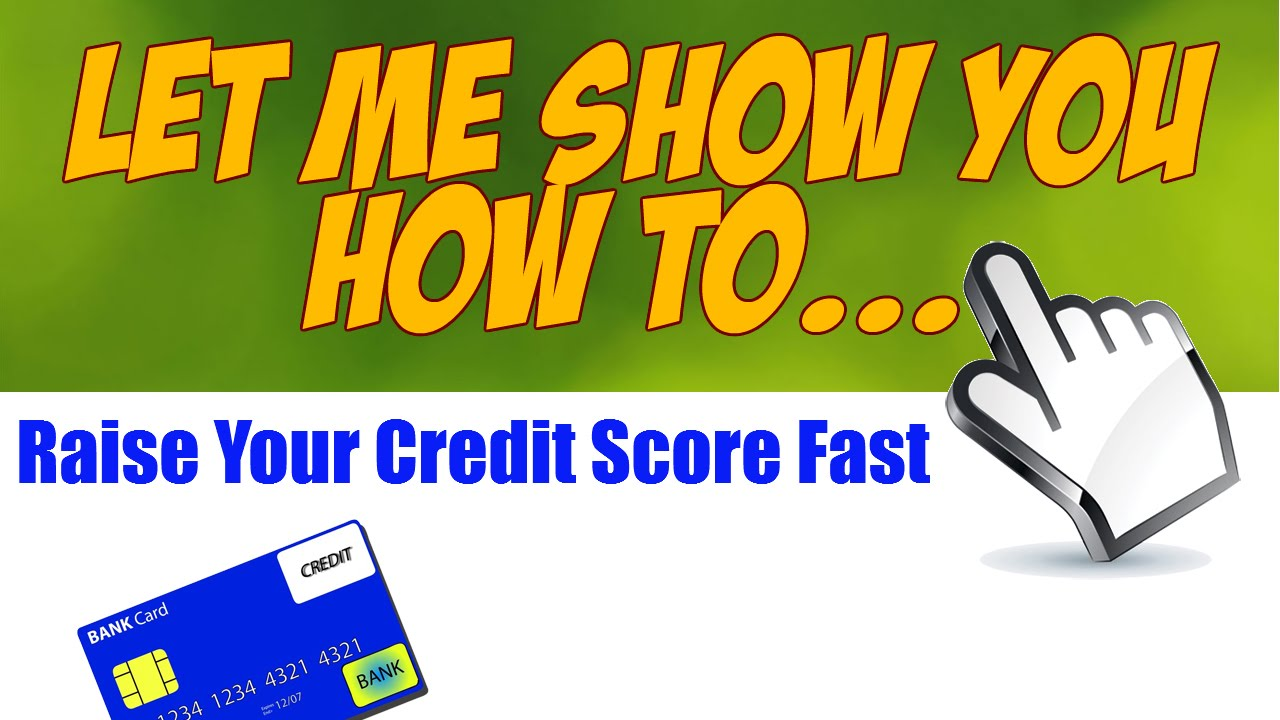 how to improve your credit score quickly