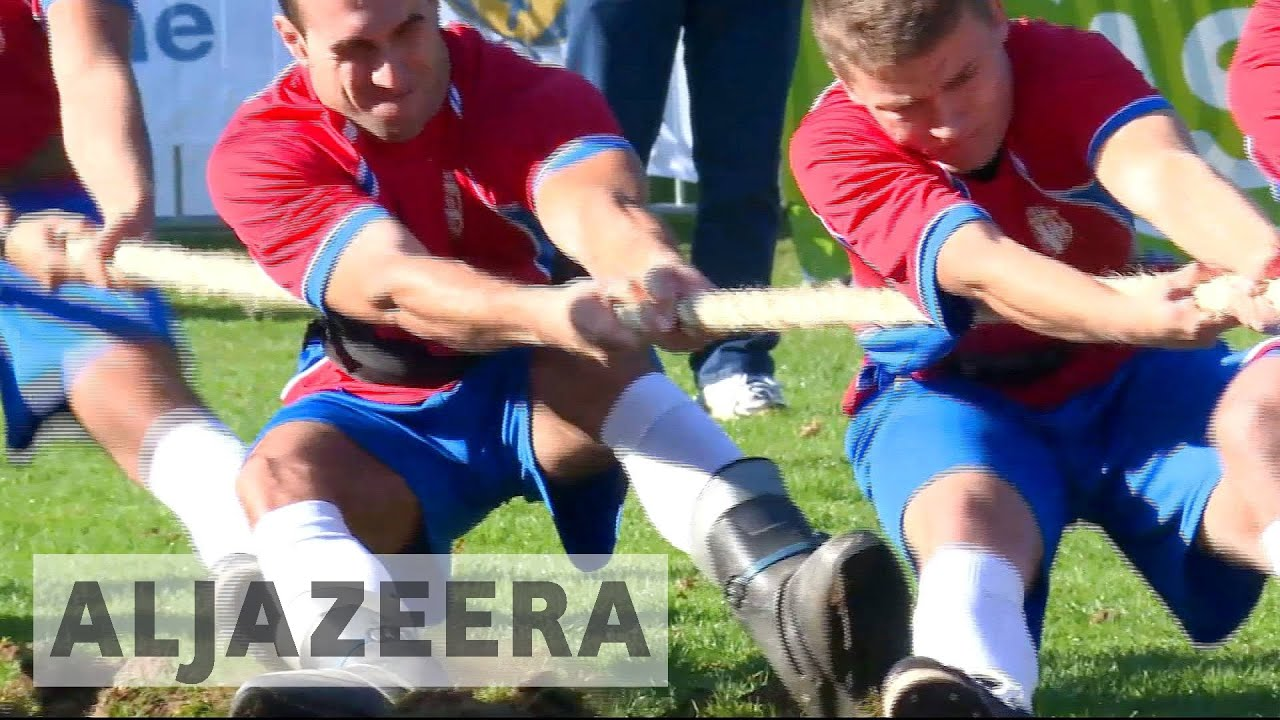 Tug-of-war championships: Pulling for a return to the Olympics