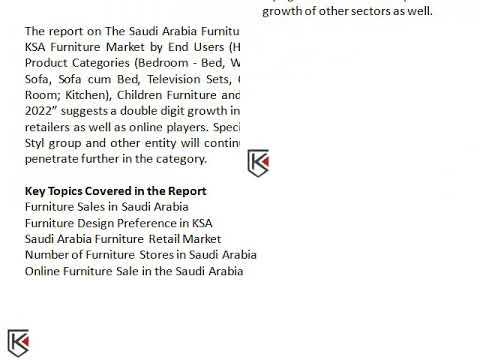 Riyadh Sales Furniture Market Saudi Arabia, Demand for Bedroom Furniture - Ken Research