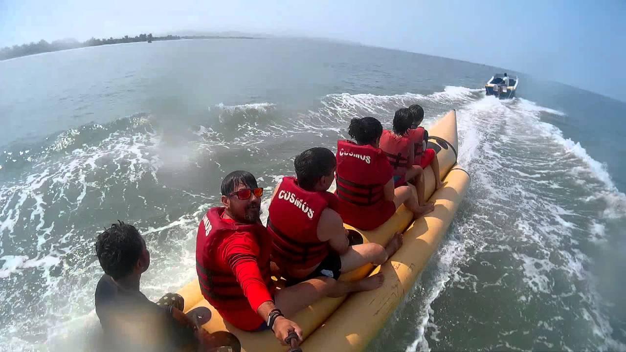Banana Boat Ride At Varca Beach Goa April 2016 Youtube