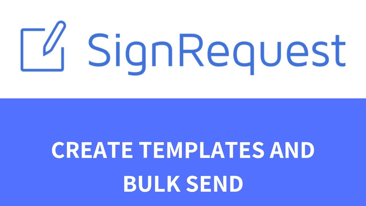 How to create a template and use bulk sending? - YouTube