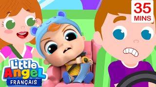Attache ta ceinture en voiture - Comptines pour Bébé | Little Angel Français